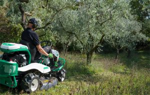 Orec rabbit trinciasarmenti professionale trattorino rider falciatutto 4wd RM982F ambientata ulivi