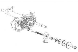 Orec rabbit trinciasarmenti professionale trattorino rider falciatutto RM83G trasmissione cambio meccanica