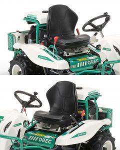 Orec rabbit trinciasarmenti professionale trattorino rider falciatutto RM982F comandi