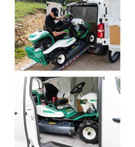 Orec rabbit trinciasarmenti professionale trattorino rider falcia tutto ambientata furgone