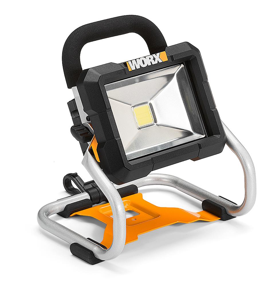 Worx faro wx026.9 a batteria faretto led luce torcia